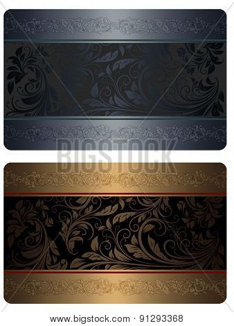 Gold And Silver Gift Card Templates.