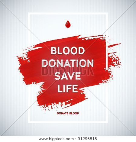 Creative Blood Donor Day Motivation Information Donor Poster. Blood Donation. World Blood Donor Day