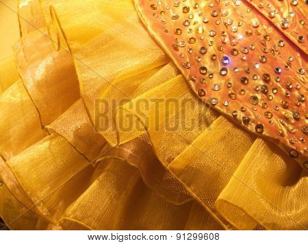 Golden Ball Dress background