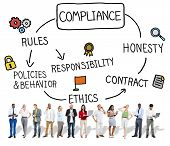 Compliance Rules Responsibility Legal Agreement Concept poster
