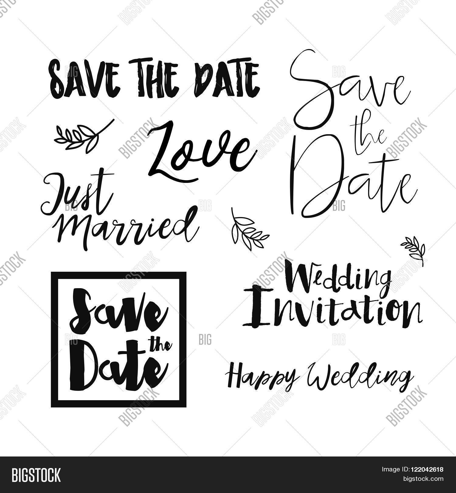 Save Date Wedding Vector Photo Free Trial Bigstock - Save the date text template
