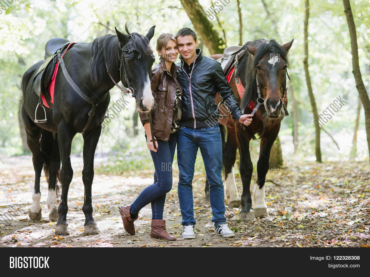 Couple Love Horseback Image Photo Free Trial Bigstock