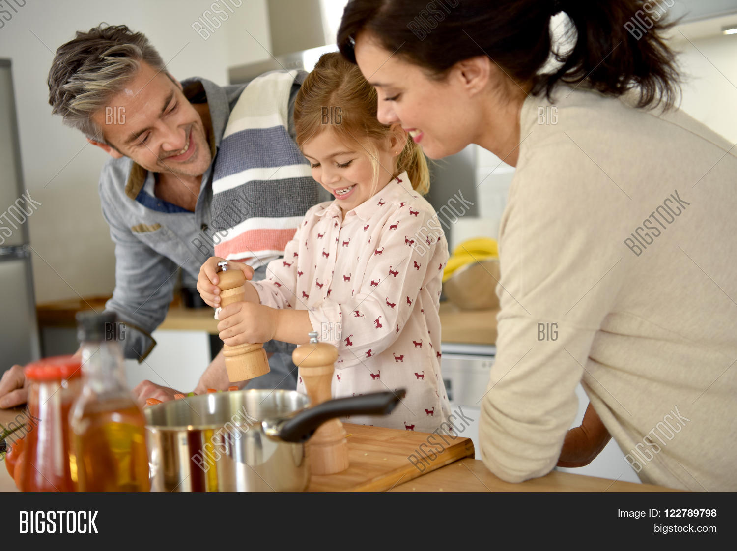 Parents Child Cooking Image & Photo (Free Trial) | Bigstock
