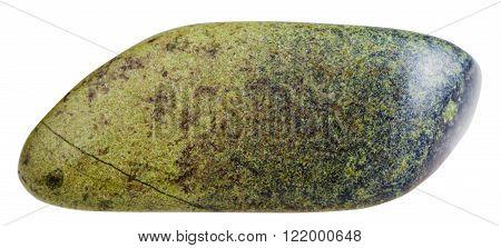 Pebble Epidote Mineral Gemstone Isolated