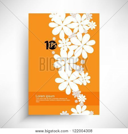 silhouette floral background conceptual design. eps10 vector