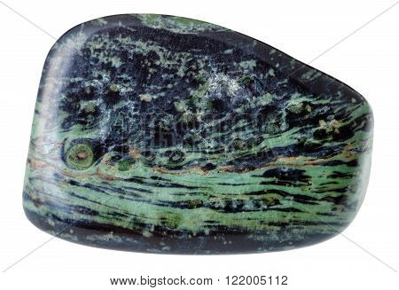 Polished Rhyolite Mineral Gem Stone Isolated