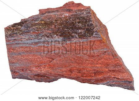 Piece Of Ferruginous Quartzite Stone Isolated