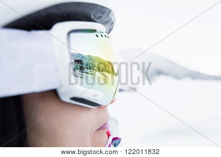 Woman In Ski Goggles