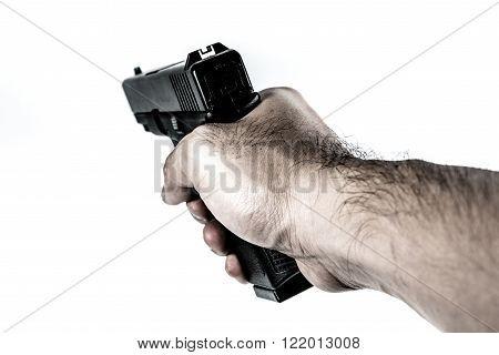 Firearm Gun In Hand