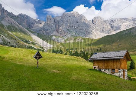 Fuciade Valley In The Dolomites