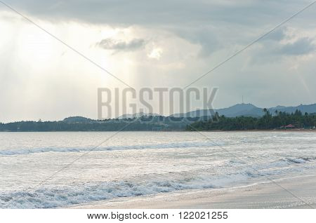 caribbean beaches tides and mountains on horizon in puerto rico