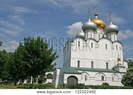 Moscow, Russia - July 27, 2009: Smolensky Cathedral Of Novodevichy Convent, Moscow
