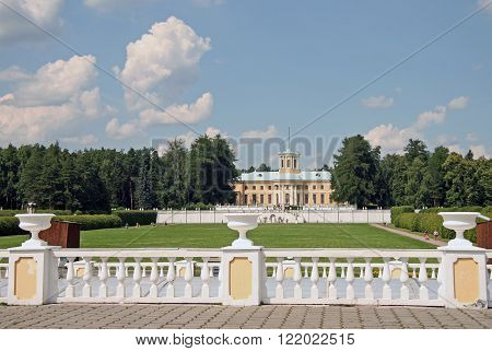 Moscow Region, Russia - July 12, 2009: Museum-estate Arkhangelskoye (18Th Century) Located Around 20