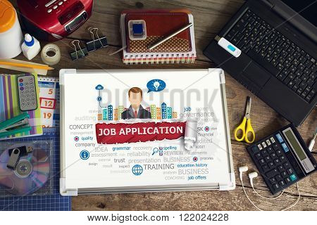 Job Application Concept For Business, Consulting, Finance