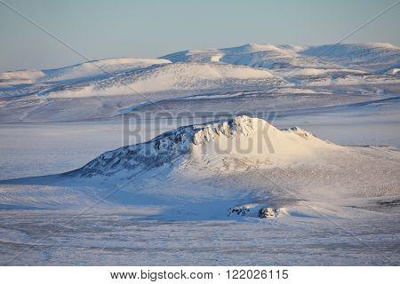 Taymyr aerial view, North of the Krasnoyarsk region, Russia.
