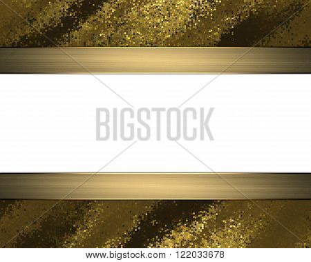 Golden Abstract Frame. Element For Design. Template For Design. Copy Space For Ad Brochure Or Announ