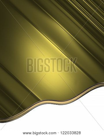 Yellow Abstract Background. Element For Design. Template For Design. Copy Space For Ad Brochure Or A