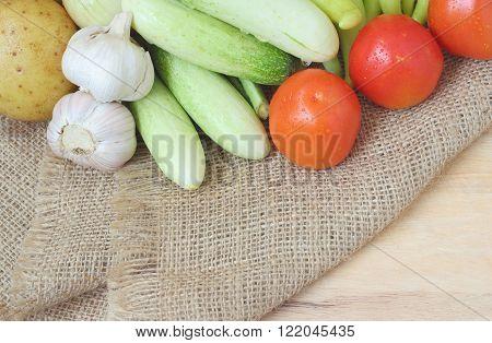 Healthy Food Background Of Vegetables