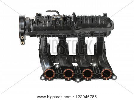 Intake manifold (with clipping path) isolated on white background