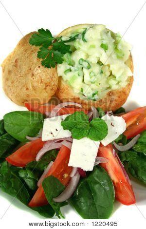 Stuffed Baked Potato And Salad
