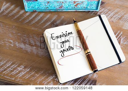 Written Text Envision Your Goals