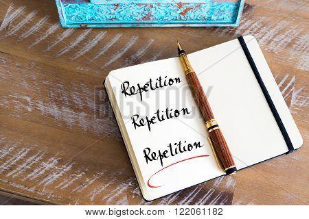 Written Text Repetition, Repetition, Repetition