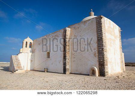 Church of Our Lady of Grace (Igreja de Nossa Senhora da Graca) at Sagres FortressAlgarve Portugal