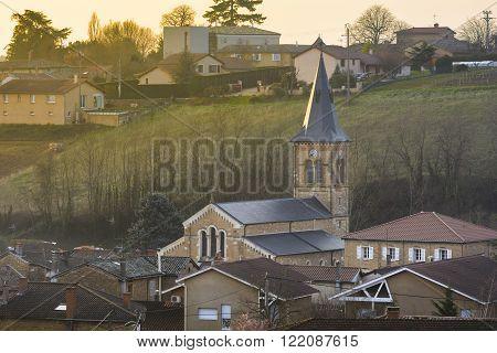 Village of Saint Julien in Beaujolais, France