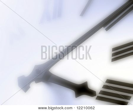 Clock face with applied soft hazy lighting effect