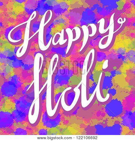 Creative Flyer, Banner Or Pamphlet Design For Indian Festival Of Colours, Happy Holi Celebration.