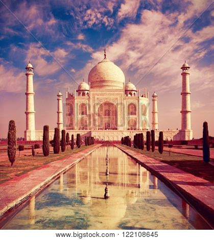 Taj Mahal in Agra Uttar Pradesh India