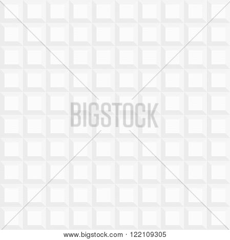 Seamless vector background. Modern volume geometric pattern with repeating square light shapes