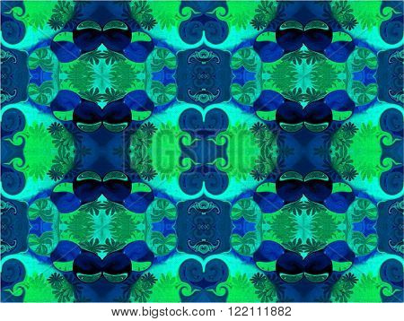 Eastern patterns - the language of the soul. Beautiful east patterns create the favorable atmosphere. They can be applied on many products. Blue balls