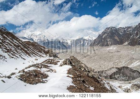 Himalayas. Ngozumba Glacier in Sagarmatha National Park, Nepal