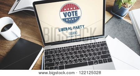Liberal Party Election Vote Democracy Concept