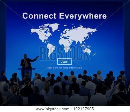 Connect Everywhere Networking Access Social Concept