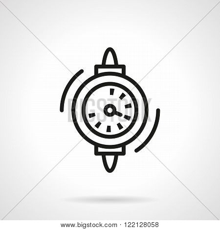 Water counter black line vector icon