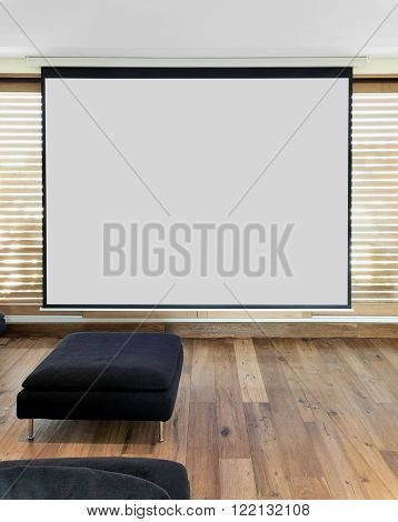 Screen for Home cinema Theater in apartment