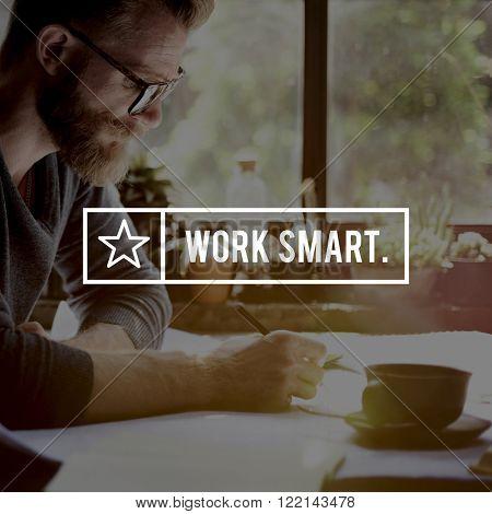 Work Smart Management Productive Effective Time Concept