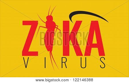 Vector Zika virus logo symbol or sign. Illustrated Nature Aedes Aegypti mosquitoes. Ideal for informational and institutional related sanitation and care. Health day