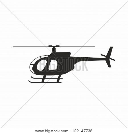 Helicopter, a type of rotorcraft in which lift and thrust are supplied by rotors.