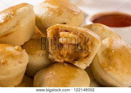 Empada Brazilian Snack. Pie With Shrimp