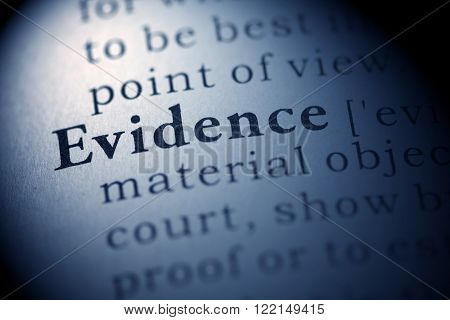 Fake Dictionary Dictionary definition of the word Evidence.