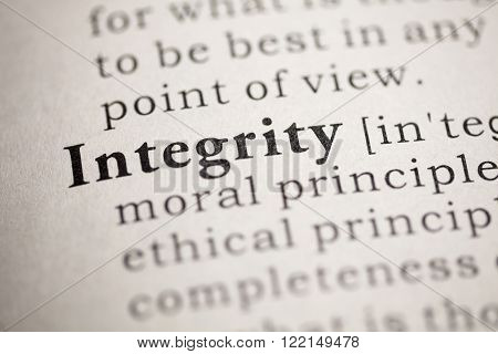 Fake Dictionary Dictionary definition of the word Integrity.