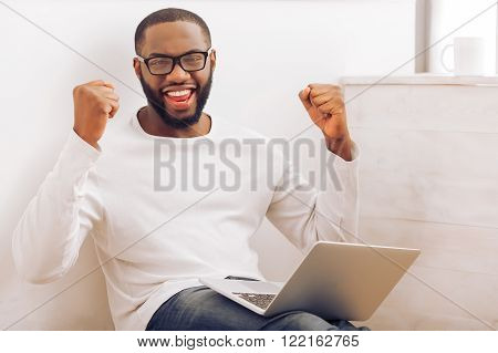 Afro American Man At Home