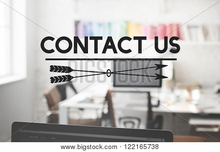Contact Us Inquiry Help Hotline Info Concept
