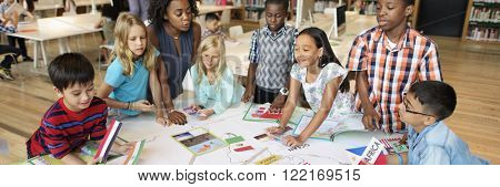Academic School Children Learning Elementary Concept