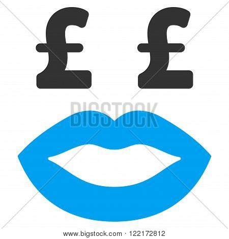 Pound Prostitution Smiley vector icon. Pound Prostitution Smiley icon symbol. Pound Prostitution Smiley icon image. Pound Prostitution Smiley icon picture. Pound Prostitution Smiley pictogram.