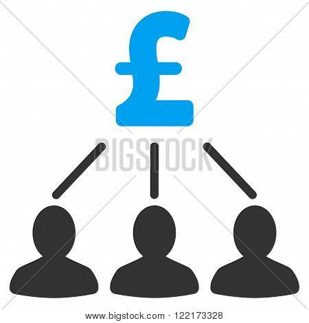 Pound Shareholders vector icon. Flat pound shareholders icon.