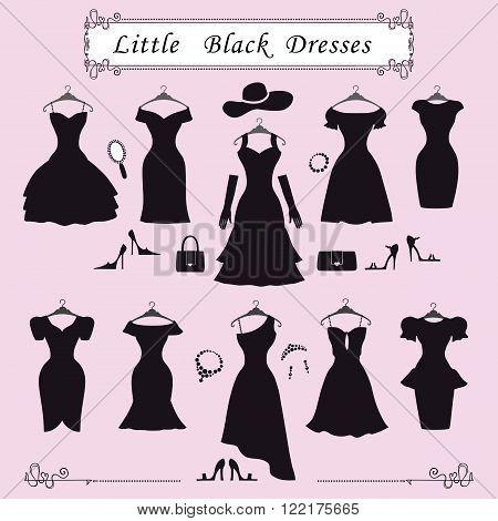 RoyaltyFree RF Little Black Dress Clipart